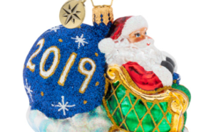 2019 No Looking Back Gem Ornament