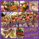 Scrumdiddlyumptious Wonka Garland Christmas Decoration