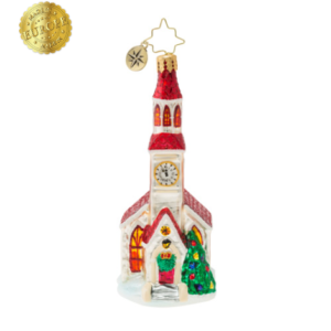 Brilliant Country Steeple Ornament