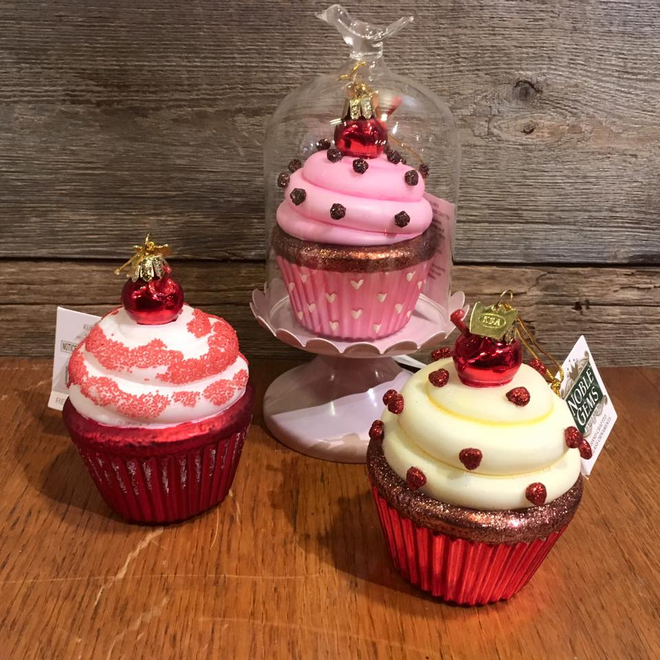 Our new glass cupcake ornaments by kurt s adler the