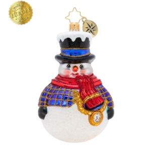 Jolly All A-Round Snowman Ornament
