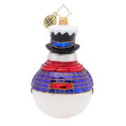 Jolly All A-Round Snowman Ornament