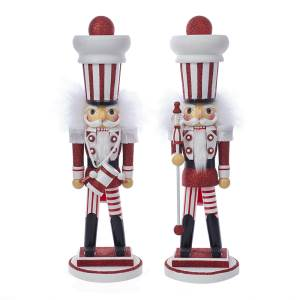 Kurt Adler Hollywood Nutcracker Red and White Soldier with Drum Nutcracker New