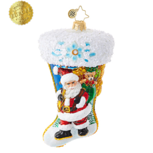 Santa Scene Stocking Ornament