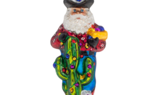 YeeHaw Cowboy Santa Ornament